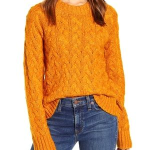 NWT Lucky Brand Quinn Cable Pullover Sweater. M